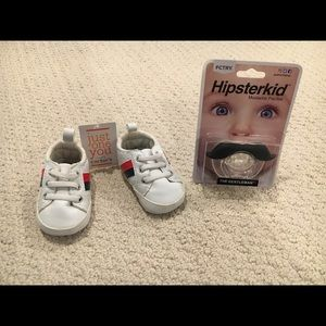 Newborn lot- shoes and pacifier